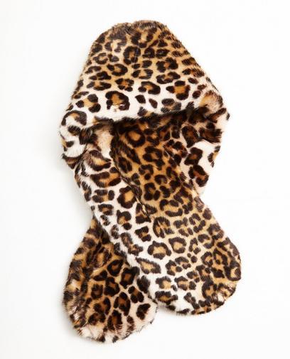 Écharpe imprimé léopard